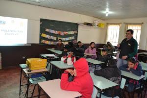 Escola Municipal Brasilina Terra recebeu Ciclo de Palestra sobre Violência nas Escolas.