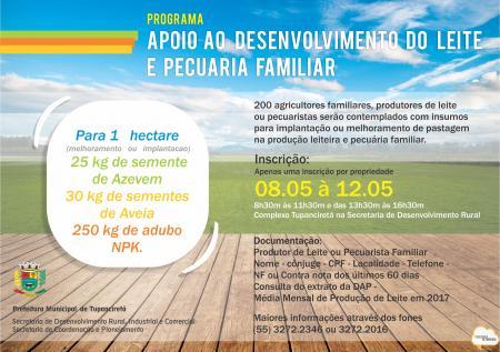 Agricultura Familiar recebe incentivo através de Programa