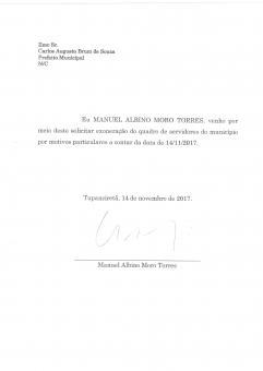 Médico Manuel Torres pediu exoneração do cargo