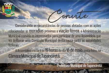 Viação Férrea: Assembleia deliberará Comissão Municipal com moradores