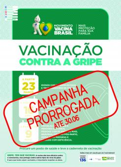 Campanha de Vacinação contra Influenza é prorrogada