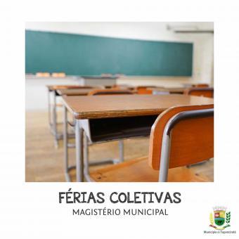Decreto de Férias Coletivas para o Magistério Municipal