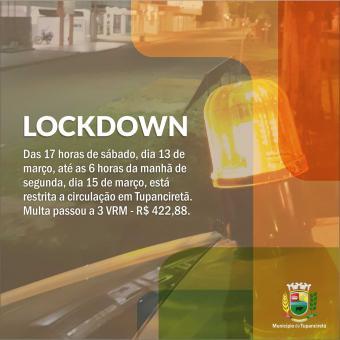 Multa do lockdown deste final de semana aumenta para 3 VRM