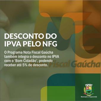 Nota Fiscal Gaúcha proporciona desconto também no IPVA