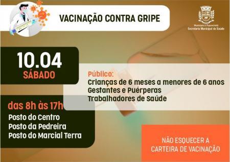 AMANHÃ VACINAÇÃO CONTRA GRIPE