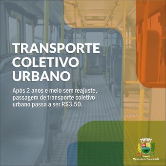 Passagem do transporte coletivo urbano passou a ser R$3,50