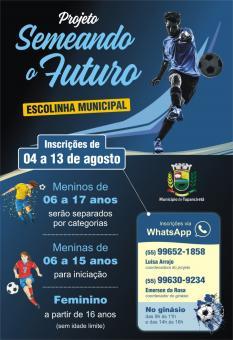 Secretaria de Esporte, Cultura e Turismo lança Escolinha Municipal de Fustsal