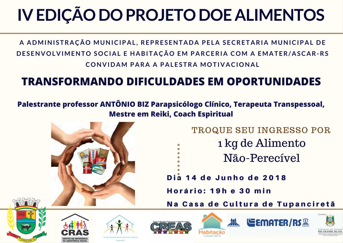 Palestra Motivacional Será Dia 14 De Junho Prefeitura